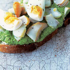 Kedgeree And Pea Puree On Toast