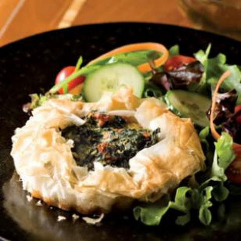 Crispy Phyllo Spinach Tartlets