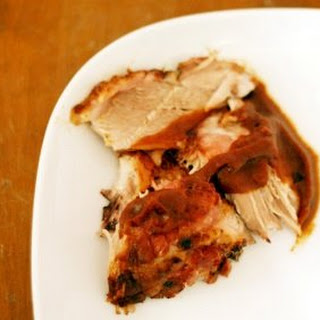 Slow Roasted Pork Shoulder with Pear Cider