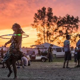 by Brady Call - People Street & Candids ( musicfestival, sunset, hulahoop, hooping, summercamp2014 )