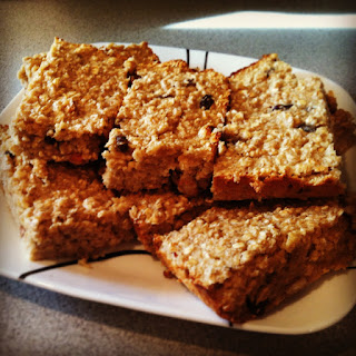 Oatmeal Raisin Protein Bars