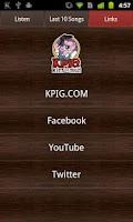 Screenshot of KPIG Online Radio