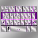 Purple Silver Keyboard Skin icon