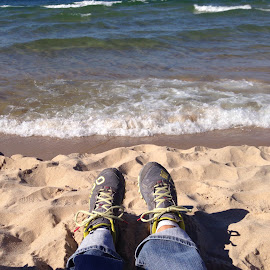 Lake Michigan. In October by Kelly Taunt - Landscapes Beaches