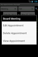 Screenshot of My Appointment Manager