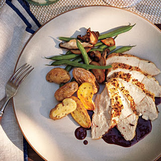 Roasted Breast of Chicken with Pinot Noir Sauce