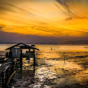 Orange Sky by Adrian Choo - Landscapes Sunsets & Sunrises ( orange, penang, landscape, 500d )