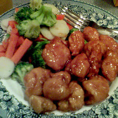 Chicken and Veggies in a Zesty Sweet & Sour Sauce