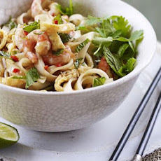 Spicy Thai prawn noodles
