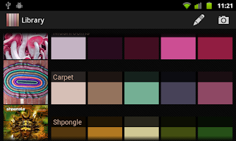 Screenshot of Real Colors, palette generator