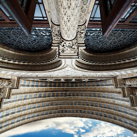 portico - looking up by Almas Bavcic - Buildings & Architecture Architectural Detail