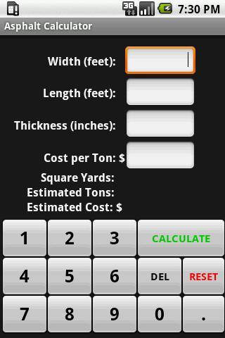Asphalt Calculator