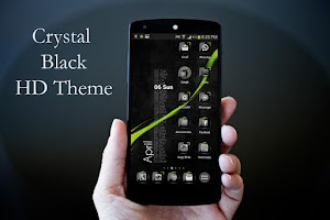 Screenshot of Theme Crystal Black Flat HD