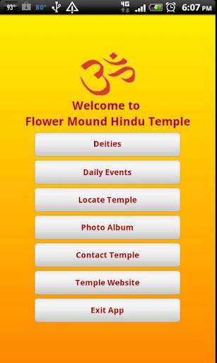 Flower Mound Hindu Temple App