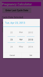 App Pregnancy calculator APK for Windows Phone