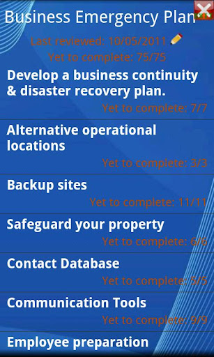Business Emergency Checklist