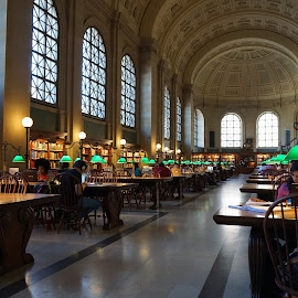 Boston Public Library by Victor Mirontschuk - Buildings & Architecture Other Interior ( boston, interiors, library, places, travel, architecture )