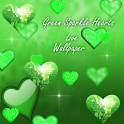 Green Sparkle Hearts Live icon