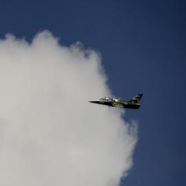 Chasseur patrouille de france by Phot ' O 3 P - Transportation Airplanes ( nuages, meeting, bleu, ciel, patrouille de france, avion,  )