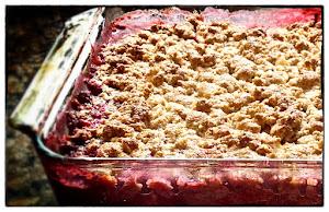 Tasty Rhubarb Crumble