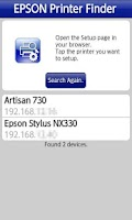 Screenshot of Epson Printer Finder
