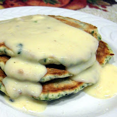 Spinach Cakes With Gouda Cheese Sauce