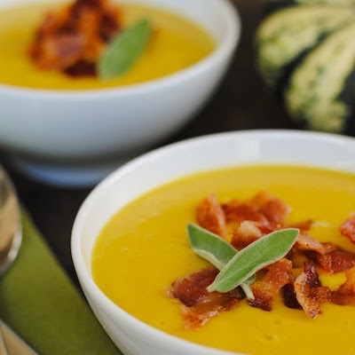 Sweet Dumpling Squash Soup with Crispy Bacon