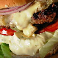 Bastille Burger - Bearnaise, Blue Cheese and Red Onion Burgers