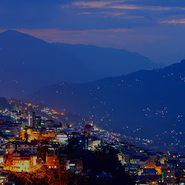 'The Nature & The Civilization' by Tanvir Ahmed - City,  Street & Park  Vistas ( sikim, gangtok, india )