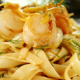Lemon Scallop Fettuccine