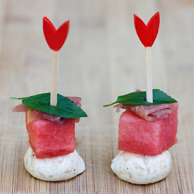 Watermelon Mint Cheese Bites