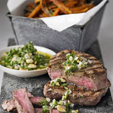Steak With Skinny Sweet Potato Fries
