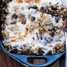 Oven-baked porcini, mushroom and Taleggio rice recipe