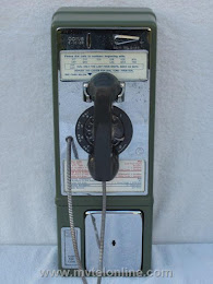 Single Slot Payphones - Green 1968 1A NY Tel Co Westchester loc C-1 1