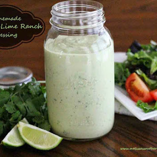 Homemade Avocado-Lime Ranch Dressing