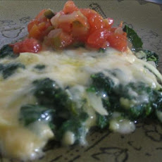Light Spinach Frittata With Salsa