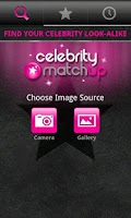 Screenshot of PicFace Celebrity Matchup