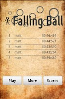 Screenshot of Falling Ball