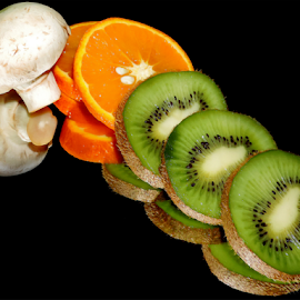 citrus fruits and a mushroom by LADOCKi Elvira - Food & Drink Fruits & Vegetables ( citrusfruits )