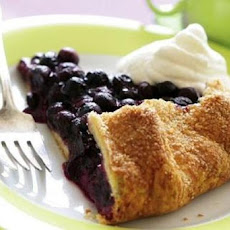 Blueberry Galette with Lemon Ice Cream
