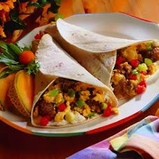 Maple Sausage Breakfast Burritos