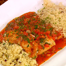 Chicken Paillards with Tomato Sauce and Couscous