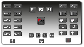 Screenshot of OKIN remote for beds