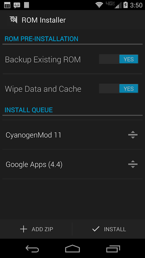 ROM Installer Screenshot 4