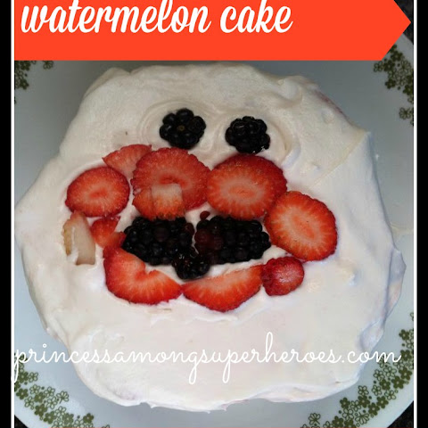 "Watermelon Cake With Paleo ""cool Whip"" Frosting"