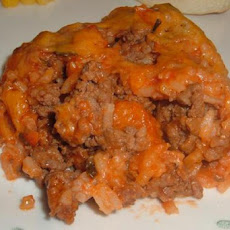 Spanish Rice and Beef Casserole