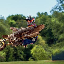 Carmichael by Josh Rud - Sports & Fitness Motorsports ( the goat, ricky carmichael, motocross, suzuki, red bud michigan, monster energy, motorcycle, dirt bike, dirt bike whip, motorcoss whip )