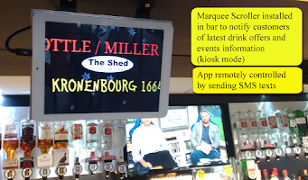 Screenshot of Marquee Banner Text Scroll