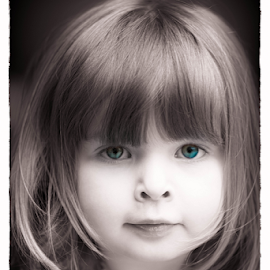 Rose by Tom Whitney - Babies & Children Child Portraits ( rose, woman, b&w, portrait, person )
