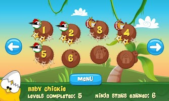 Screenshot of Ninja Chicken Ooga Booga